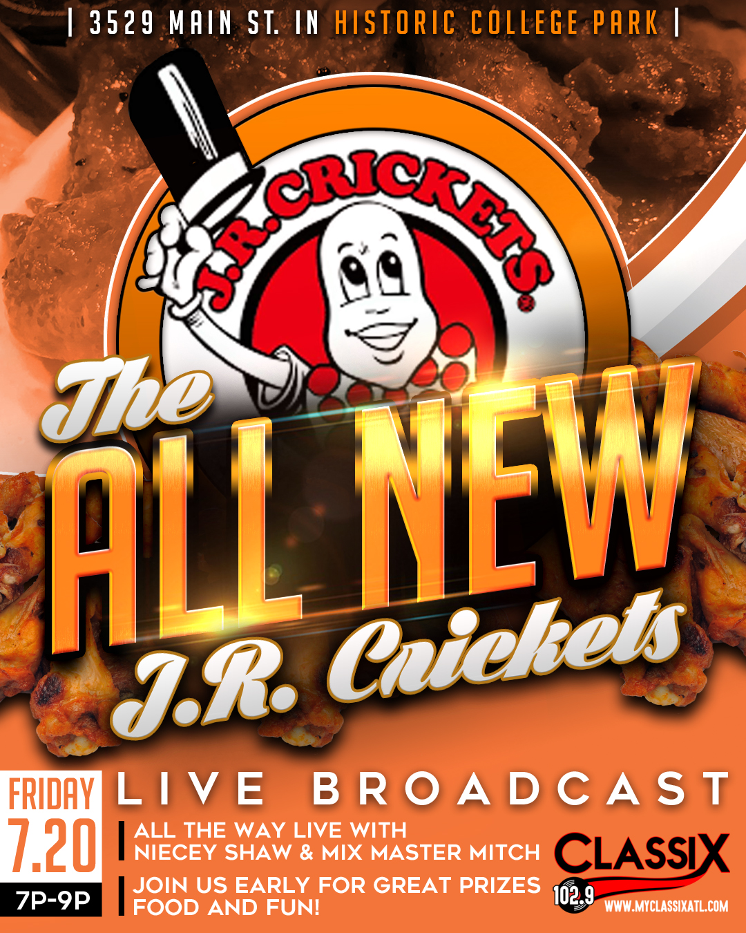 J.R. Crickets Live Broadcast