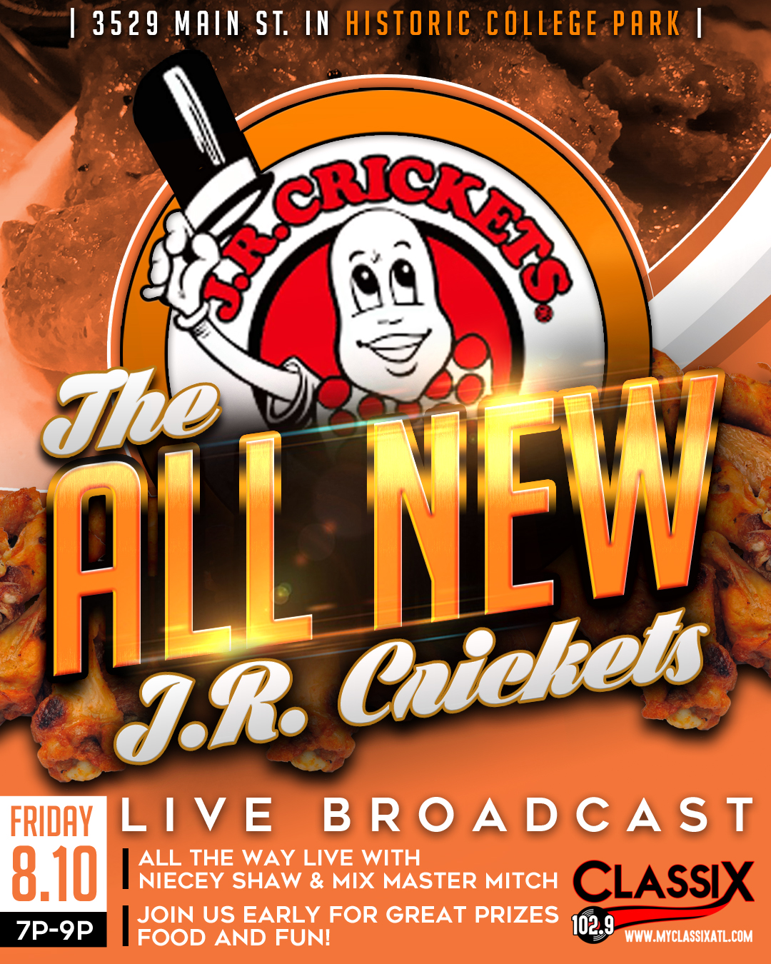 The All New JR Crickets Grand Opening