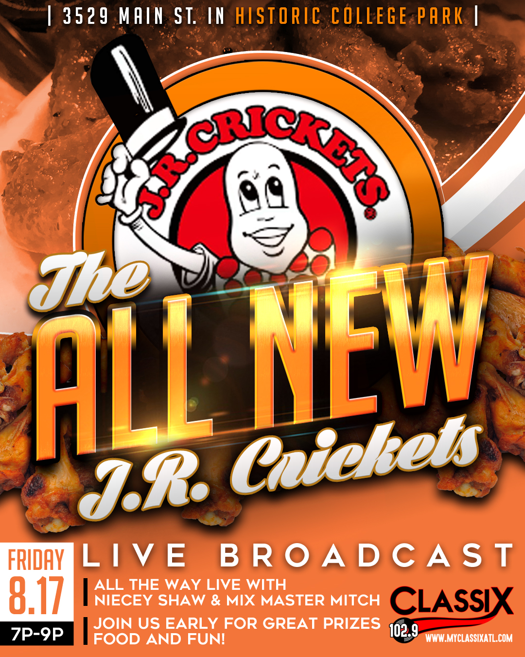 J.R. Crickets Grand Opening