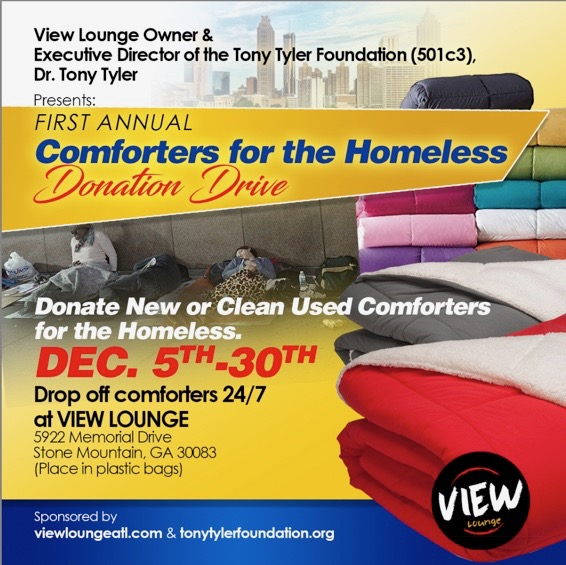View Lounge: First Annual Comforters For The Homeless