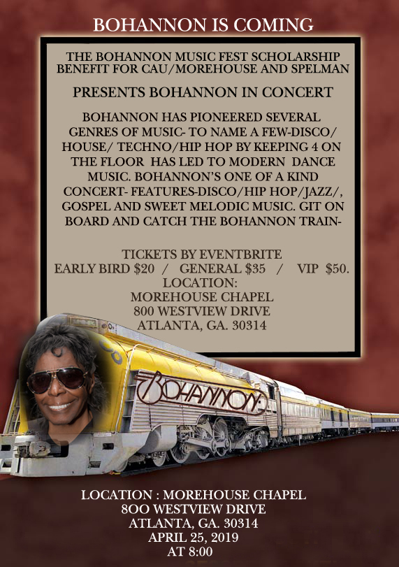 The Bohannon Music Fest Scholarship Benefit Presetns: Bohannon In Concert