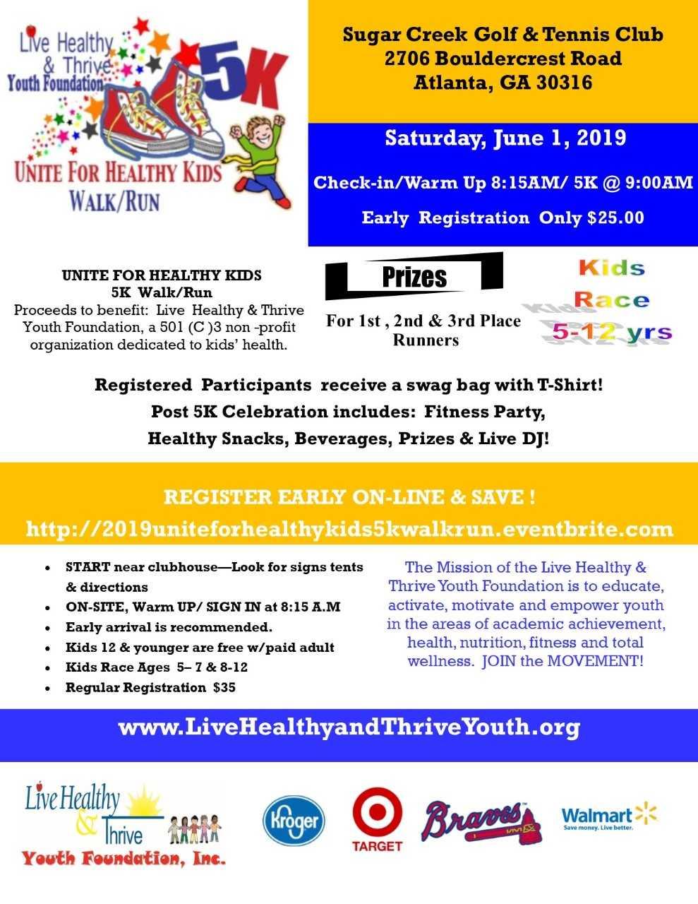 9th Annual Unite for Healthy Kids 5K Walk and Run