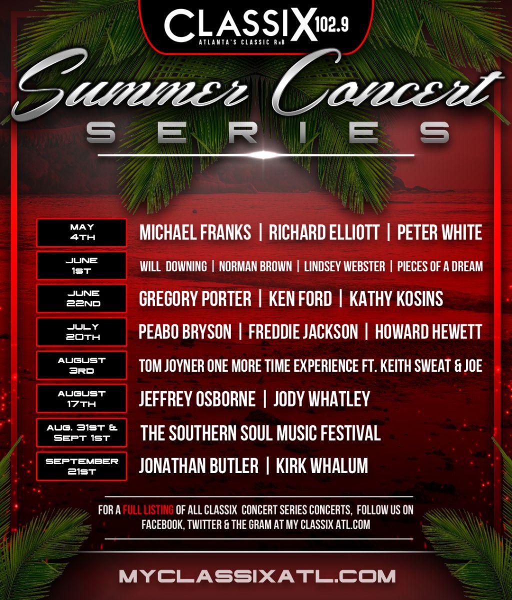 Classix 102.9: Summer Concert Series