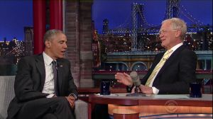President Barack Obama appears on 'Late Show with David Letterman'