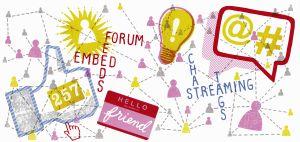 Social media symbols and phrases